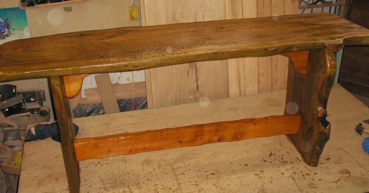 Muebles artesanales mesa rustica de cipres for Mesas antiguas rusticas