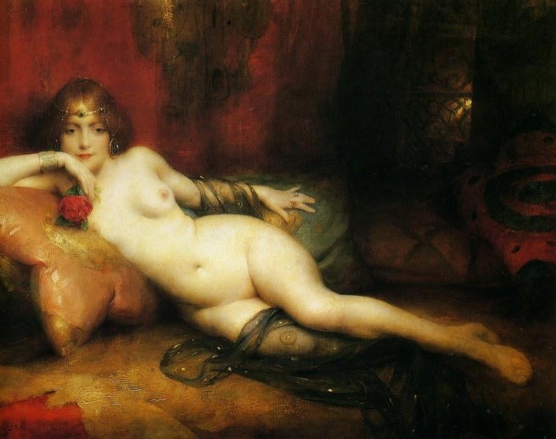 D.W.C. Orientalist Nude - Painters Adrien Henri Tanoux