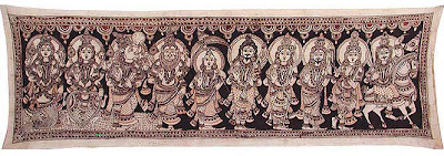 Kalamkari Painting Lord Vishnu Dasavatar