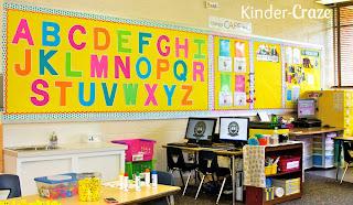 vibrant kindergarten classroom