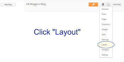 click layout on blogspot