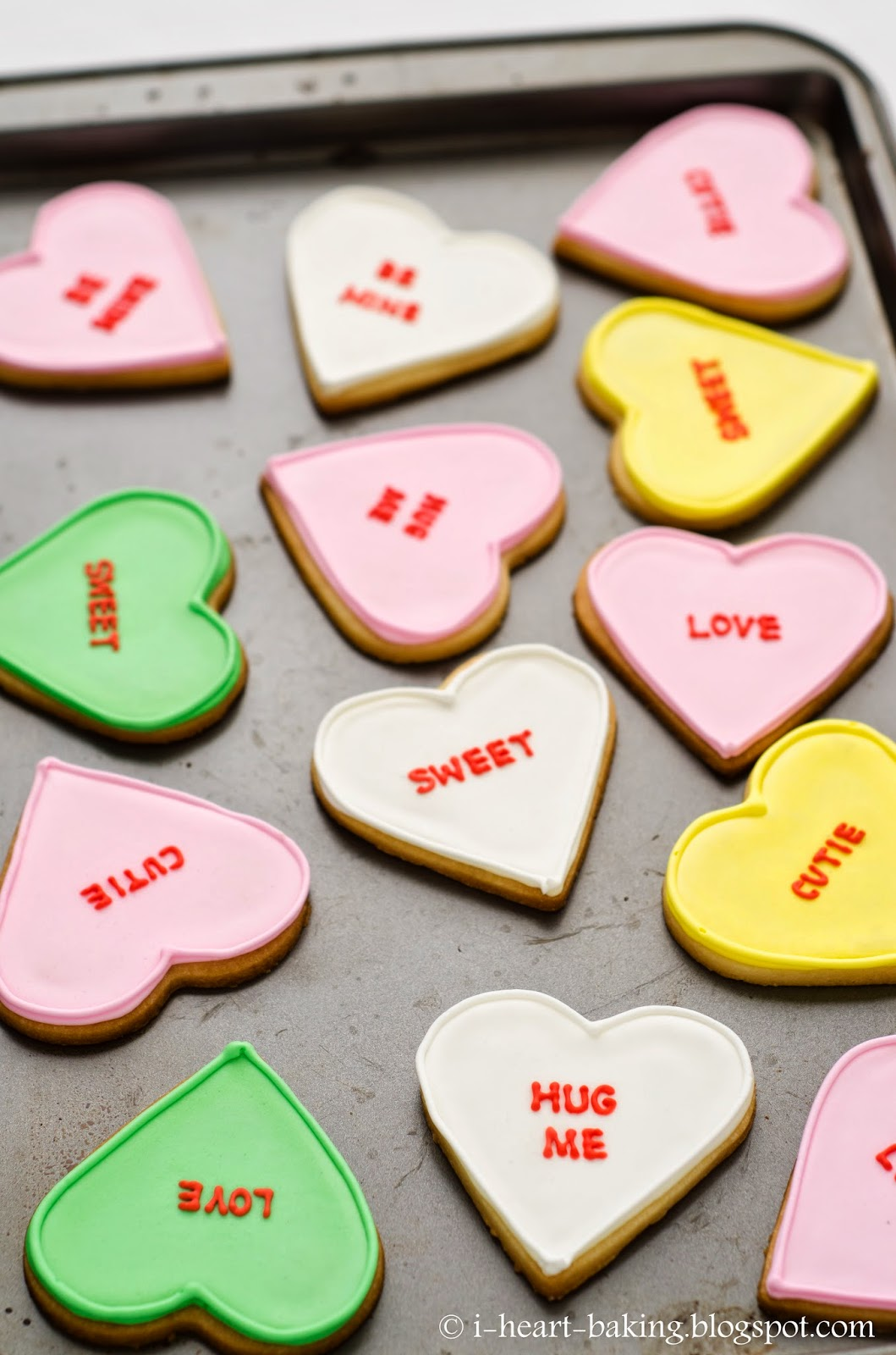 heart baking!: valentine's conversation heart cookies