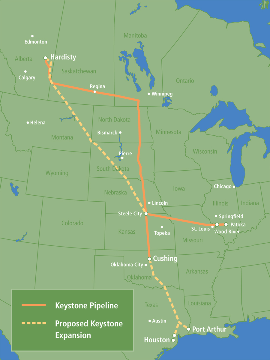 keystone pipeline canada to u s Canada already sends 550,000 barrels of oil per day to the us via the existing  keystone pipeline the oil fields in alberta are landlocked and.