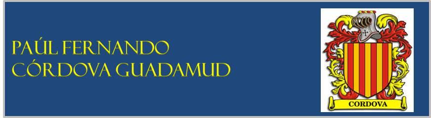 PAÚL FERNANDO CÓRDOVA GUADAMUD
