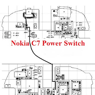 Nokia C7 power switch