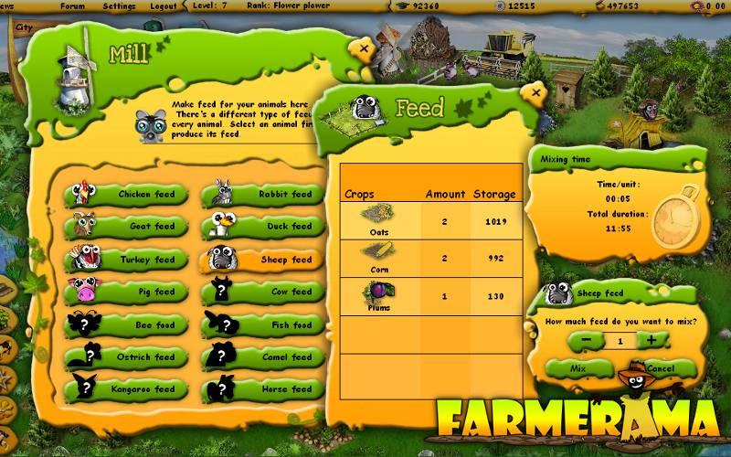 Farmerama jogo de browser