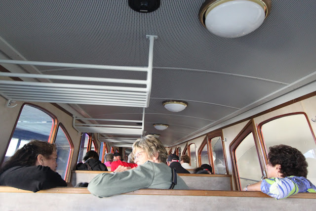 All the seating are built at 45 degree angle to ensure the safety of passengers while going down the steepest mountain of Pilatus Kulm (Mount Pilatus) in Lucerne, Switzerland
