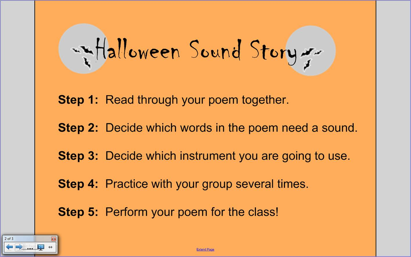 ♫ we ❤ music @ hses! ♫: halloween sound stories