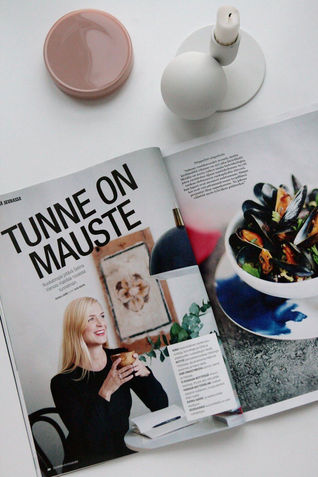 DILLIÄ JA PIPARJUURTA GLORIAN RUOASSA & VIINISSÄ 1/2016