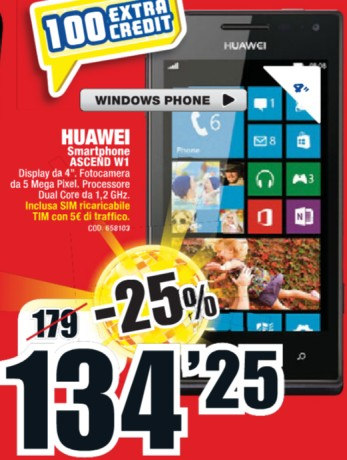 Il miglior prezzo per questo smartphone windows phone 8 venduto a soli 134,25 euro da Mediaworld