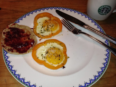 eggs fried in a pepper ring