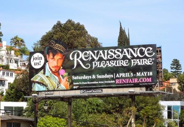 Renaissance Pleasure Faire billboard 2014