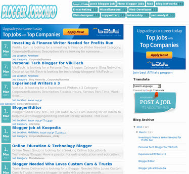Blogger Jobboard template