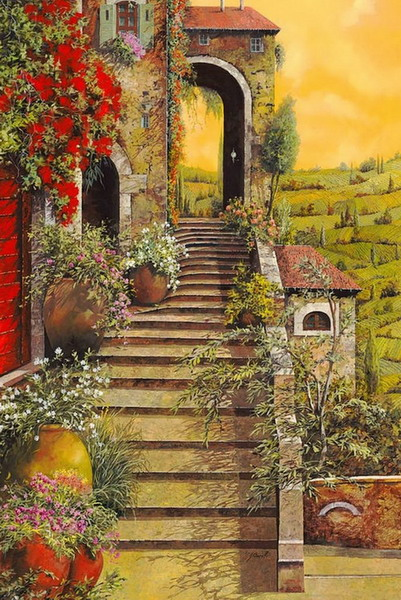 Pintura moderna y fotograf a art stica cuadros de - Casas viejas al oleo ...