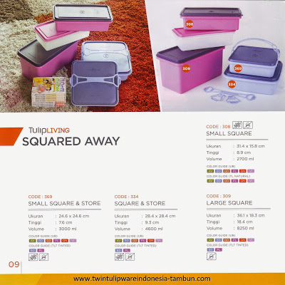 small square - squared away tulipware