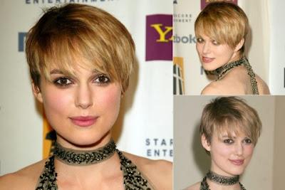 Keira Knightley short haircut with bangs
