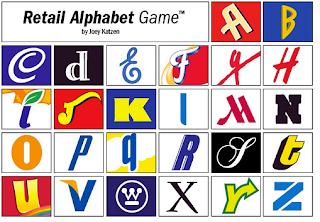 O Alphabet Logo BABY FOOD FOR CREATIVES: Retail Alphabet Game