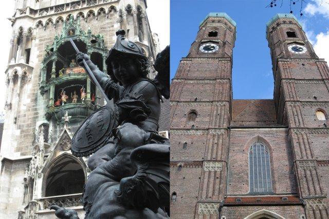 Ayuntamiento y Catedral de Nuestra Señora de Munich