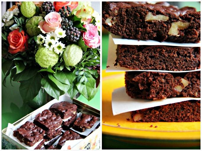 sachen die gl cklich machen brownies mit waln ssen vegan. Black Bedroom Furniture Sets. Home Design Ideas