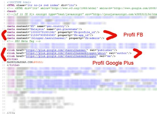 Cara letak profil blog untuk kelebihan SEO dan Autoriti blog