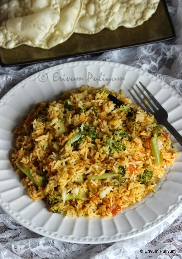 Broccoli-Tomato Rice | One Pot meal | Lunch Box Ideas