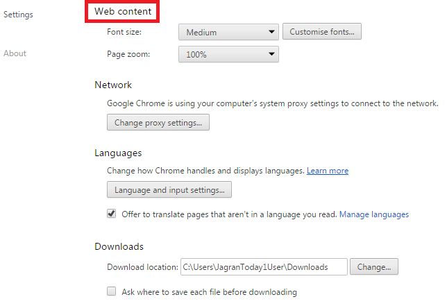 How to Zoom in Chrome