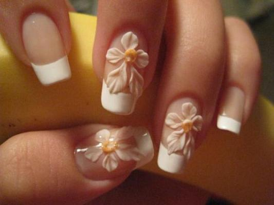 Nail art flowers 3d diy d nail art designs for girls inspiring nail art flowers 3d fashionhobbies brides nails art designs d flowers prinsesfo Gallery