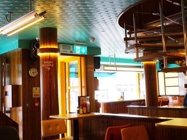 Decor inside the breakfast club in brighton