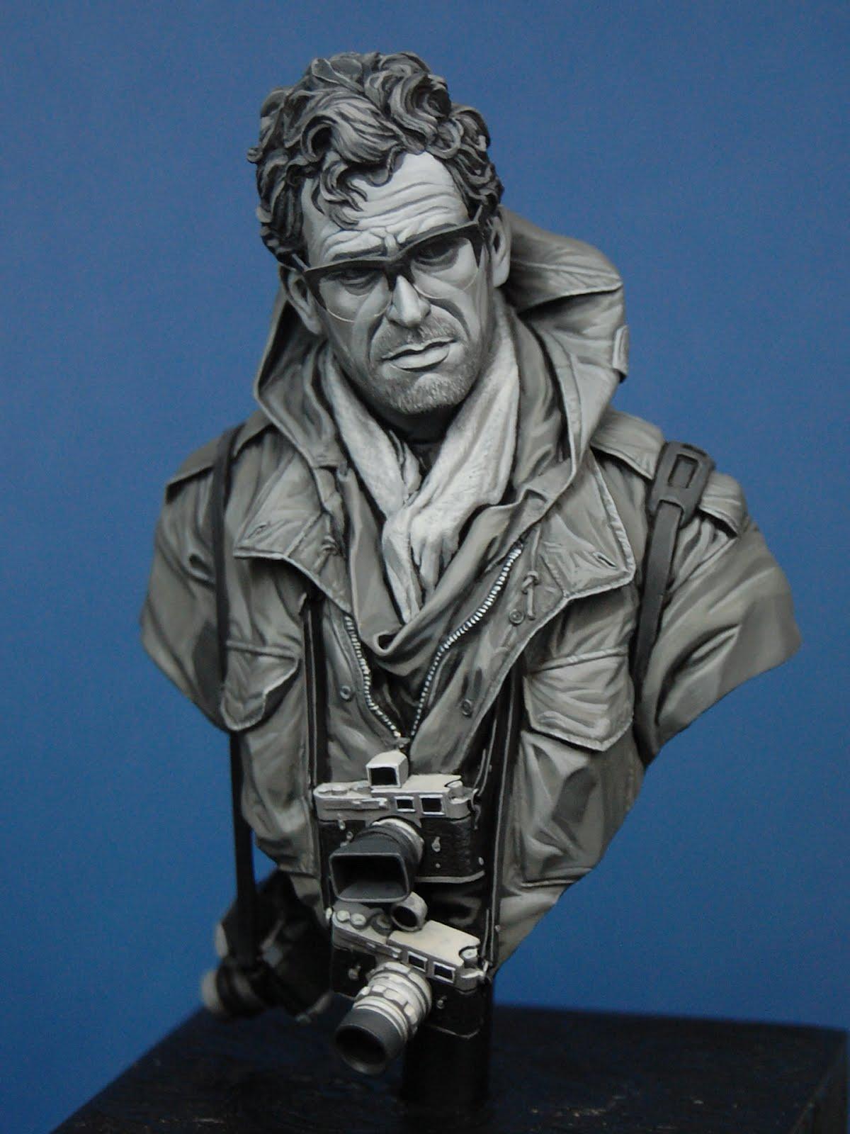 celebre photographe Guerre Vietnam buste Life Miniatures B4