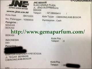 Pengiriman parfu ke Bogor