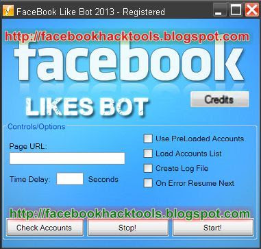 FaceBook Likes Bot 2013
