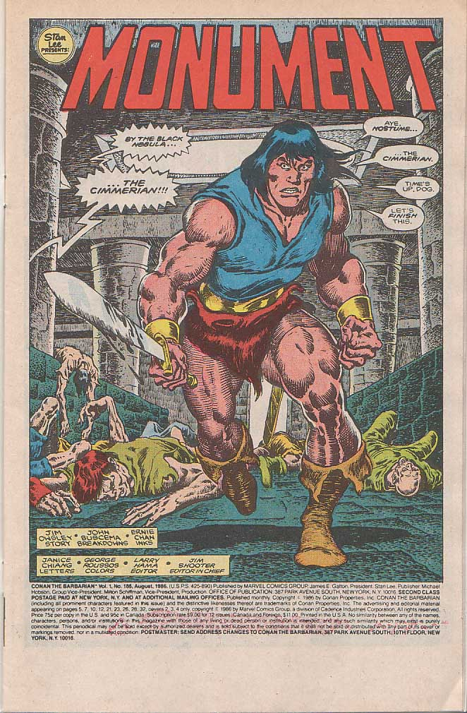 Conan the Barbarian (1970) Issue #185 #197 - English 2