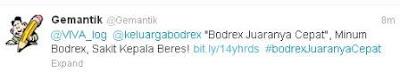Bodrex Juaranya Cepat, Minum Bodrex Skait Kepala Lewat! 1