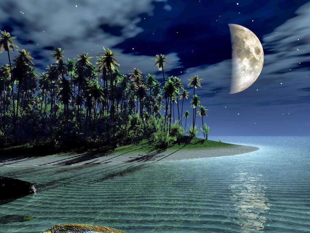 naturaleza - luna - paraíso -
