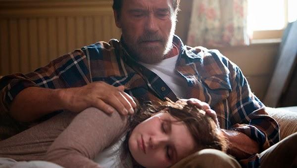 Arnold Schwarzenegger y Abigail Breslin en la cinta zombi 'Maggie'