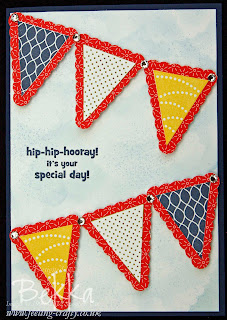 Bunting Birthday Card for a Teenage Boy using Pennant Parade