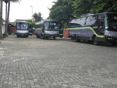 Tempat Parkir bus di Museum Sri Baduga Bandung