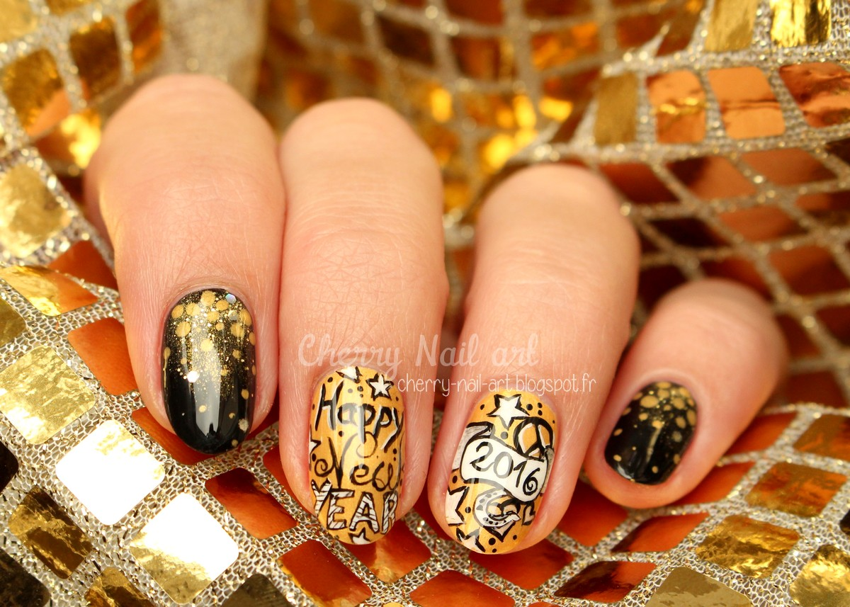 nail art nouvel an 2016