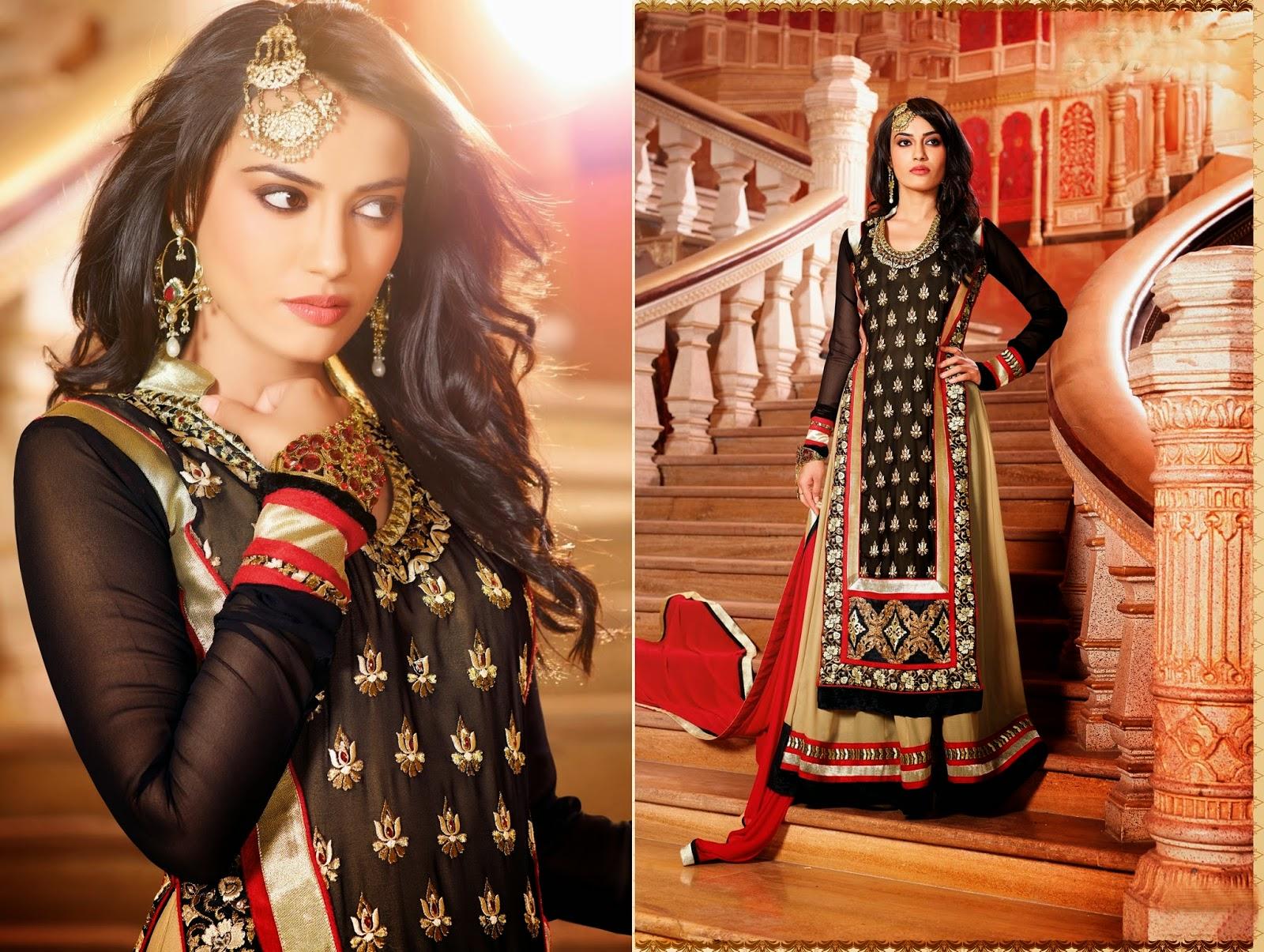 Punjabi Salwar Kameez Suits Designer Designs Design Latest Neck