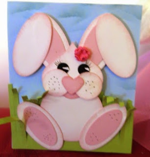 Bunny card by Zena Kennedy Independent Stampin Up demonstrator