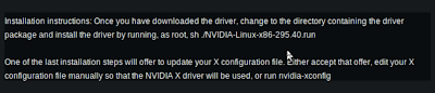 nvidia's Linux driver install instructions