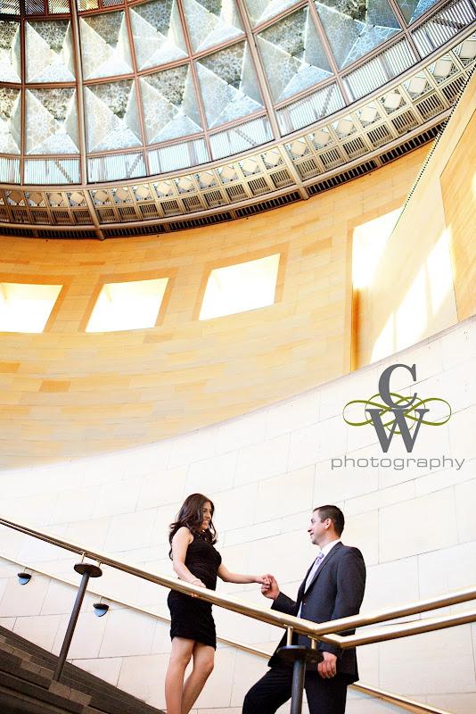 engagement portrait, Union Station los angeles