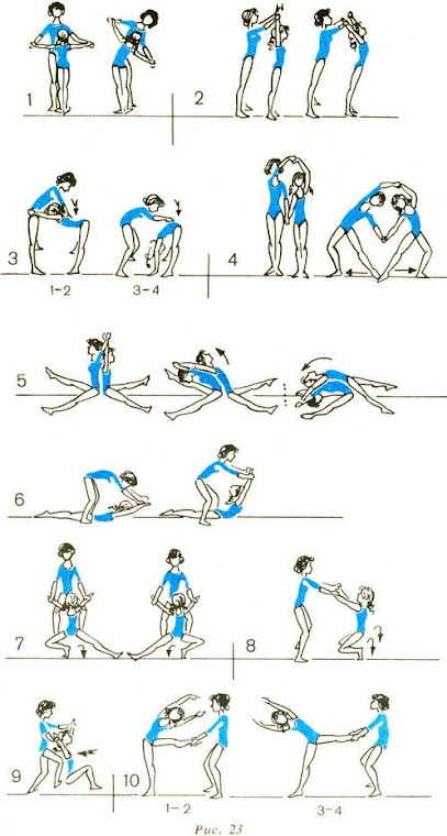 Упражнения взрослого и ребёнка