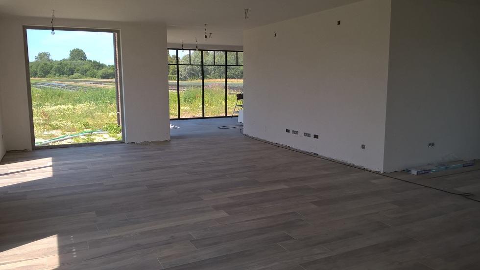 Ons huis onze vloerder is klaar met het leggen van de vloeren 26 05 2015 - Hardhouten vloeren vloerverwarming ...