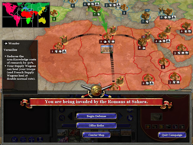 Rise of Nations - Strategic Map Defense