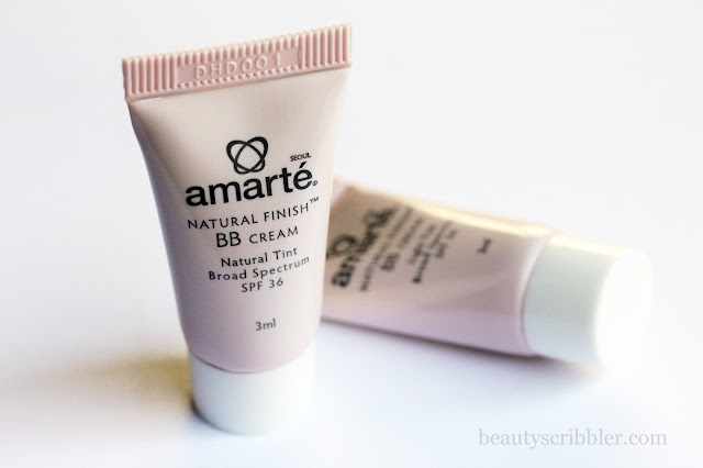 Amarté Natural Finish BB Cream samples