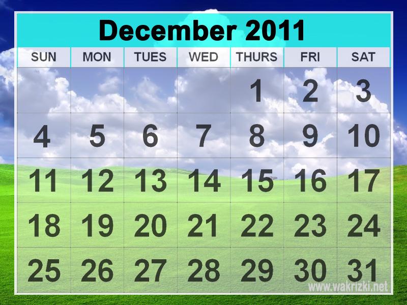 Keanehan Bulan Desember 2011