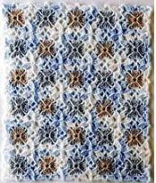 Motivo esquema crochet continuo