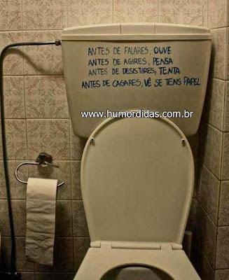 Humordidas recomenda filosofia de banheiro