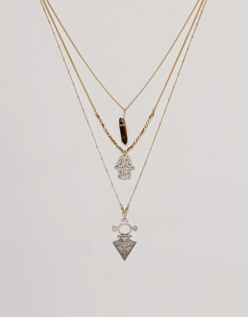 triple necklace asos,